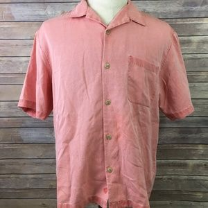 Nat Nast Red Chili Pepper Silk Hawaiian Camp Shirt